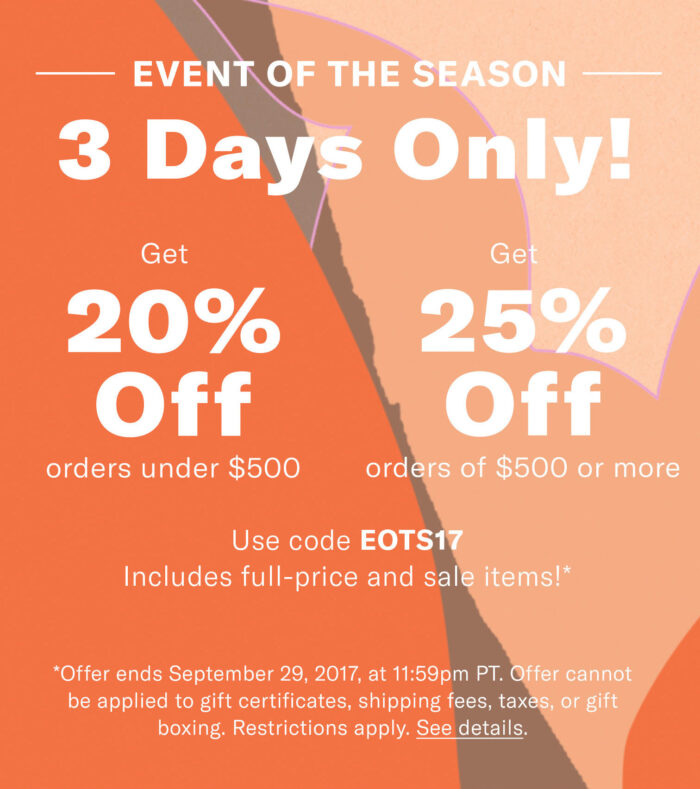 shopbop sale coupon code
