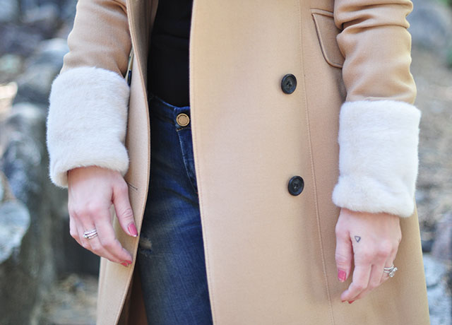 1 jacket with fur cuffs _ diy removable cuffs