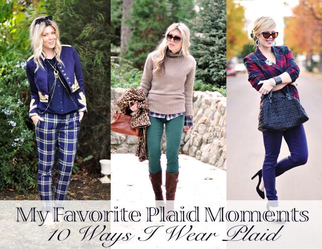 10 ways I wear plaid