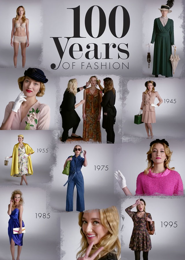 100 years of fashion video