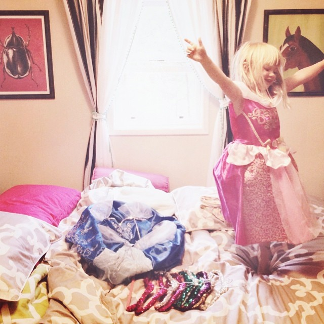 princess hangers and dresses