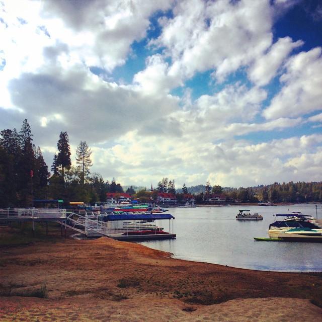 Lake Arrowhead - Clouds over the lake