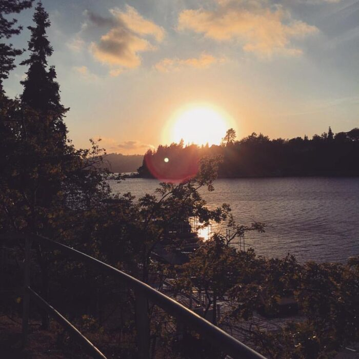 Sunset over the lake - lake arrowhead