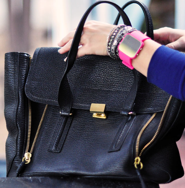 1Face watch for a cause-pink+phillip lim large pashli bag