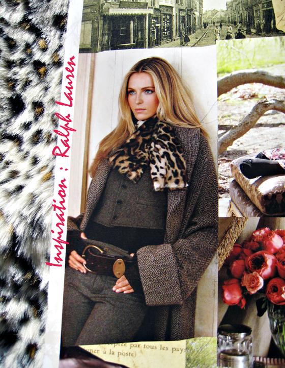 DIY Faux Fur Leopard Scarf