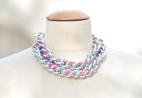 chunky chain necklace diy
