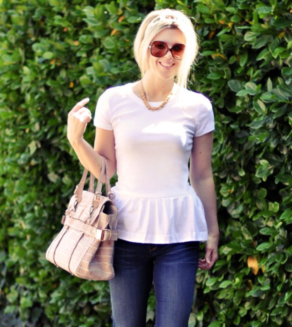 Easy t-shirt DIYS - DIY Peplum Tee