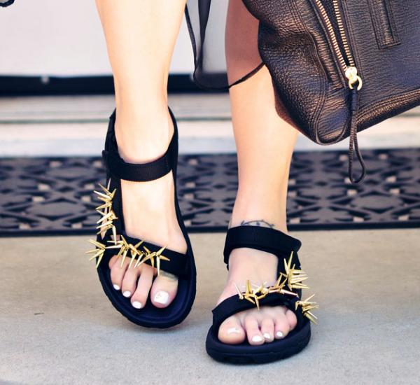embellished sporty baja sandal DIY