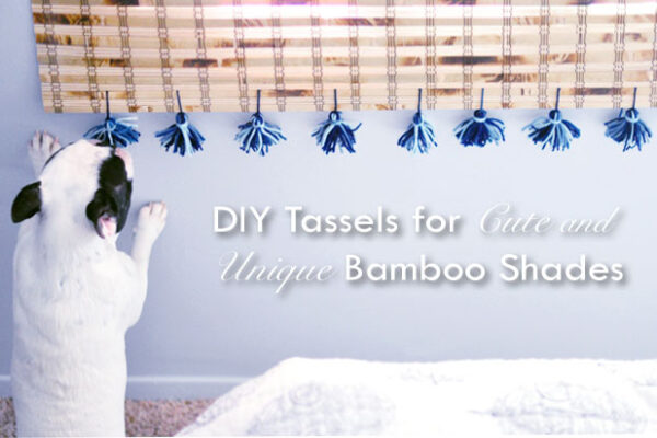 upgrade your bamboo shades with tassels for the perfect boho window coverings