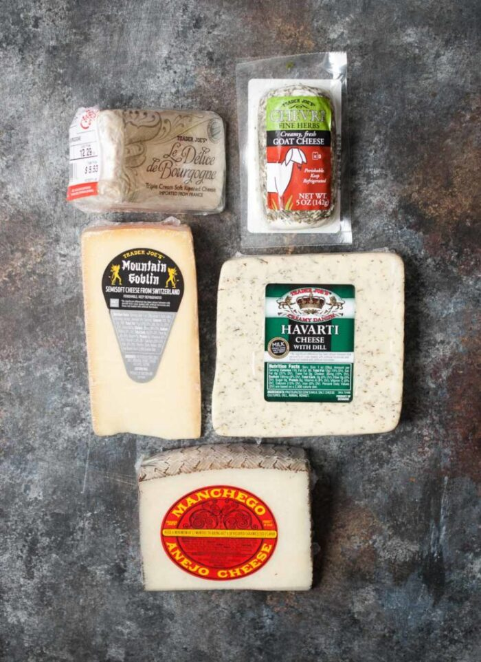 how to make a cheese board - cheeses