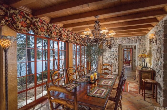 Formal Dining Room on the Lake - Lake Arrowhead, California