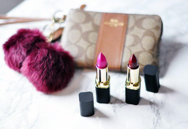 coach wristlet-loreal lipstick