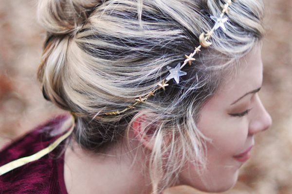DIY Celestial Stars and Moons headband crown -12