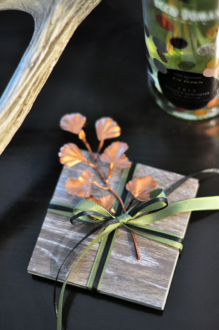 DIY Faux Coasters- gift idea with wine