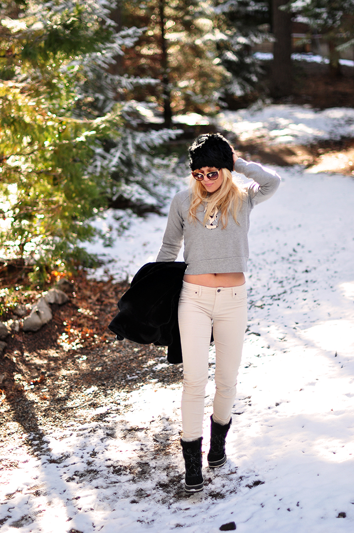 winter style in the snow - casual outfit