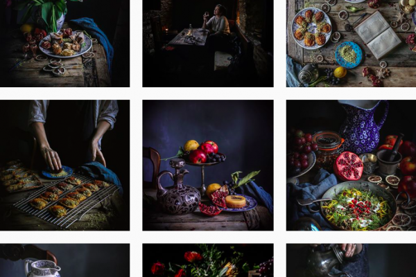 dark materials food artist instagram