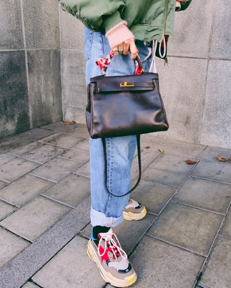 balenciaga triple s sneaker - street style