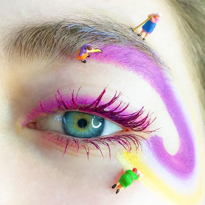 Makeup is art - Artist Martha Butterworth - spring cleaning makeup look