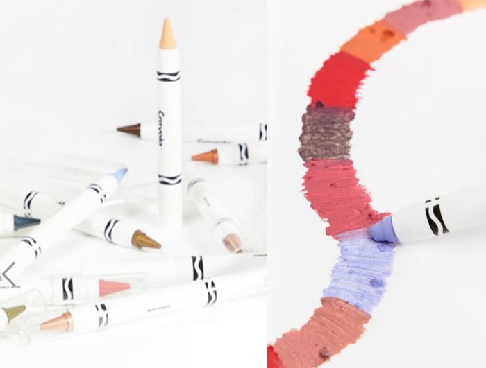 Crayola beauty collection with Asos - lips face eyes crayola face crayon