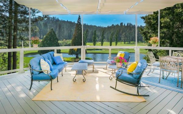 lake arrowhead house on the golf course - patio