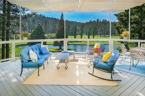 lake arrowhead house on the golf course - patio