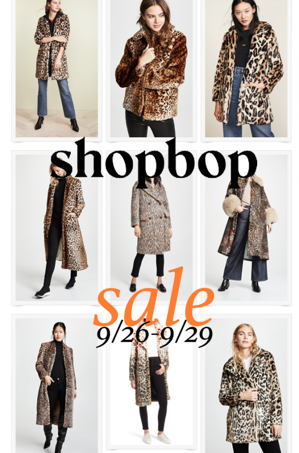 leopard coats and jackets - shopbop fall sale