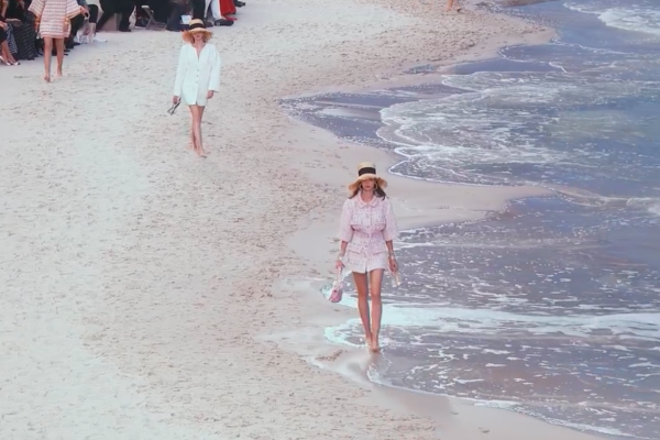 PFW ~ Chanel Spring Summer RTW 2019 Seaside Runway Collection on the Beach -10