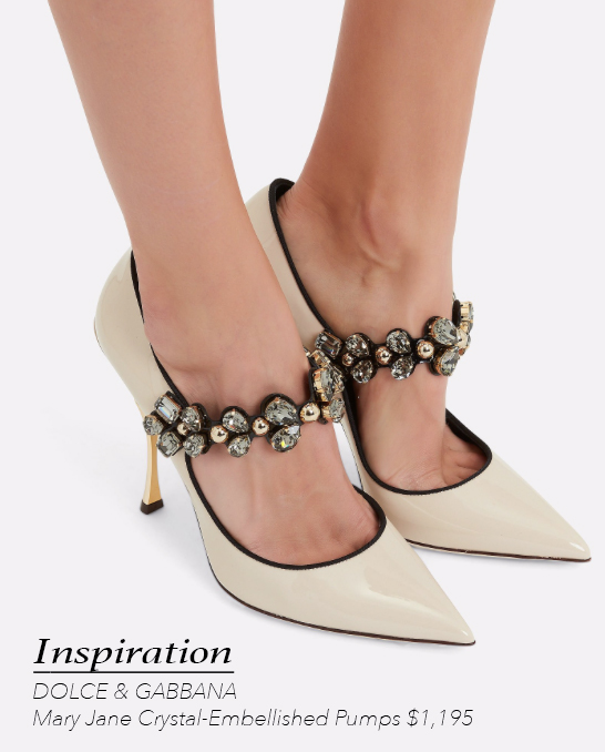 DOLCE & GABBANA Mary Jane Crystal-Embellished Pumps