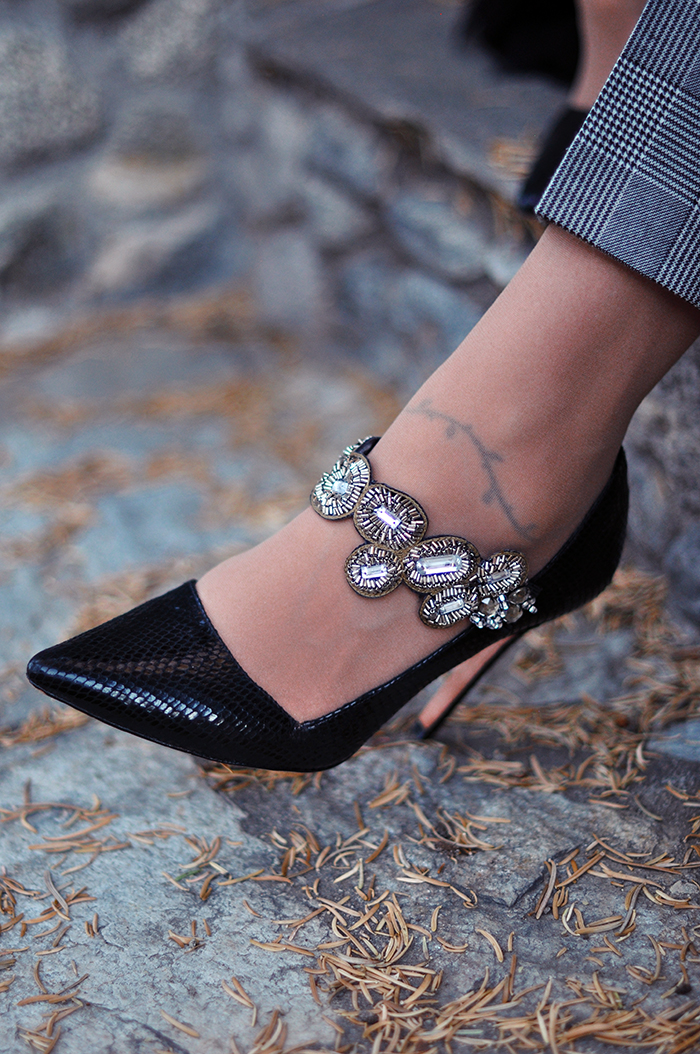 DIY Pretty Crystal Embellished Mary Janes
