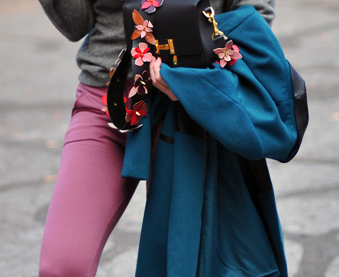 cozy fall style in fall colors-barton perreira sunglasses- diy fendi flower bag strap -love maegan tintari