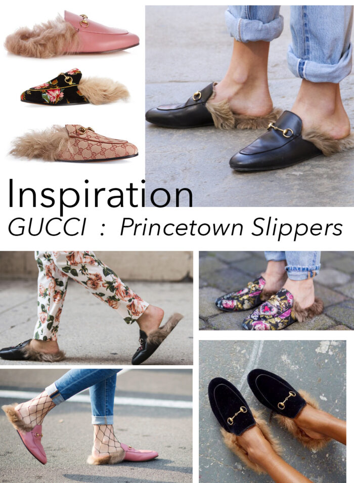 gucci princetown slippers with fur