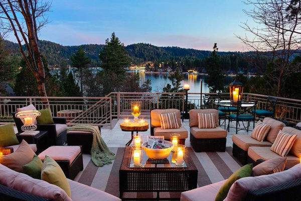 lake front home with incredible view in lake arrowhead california