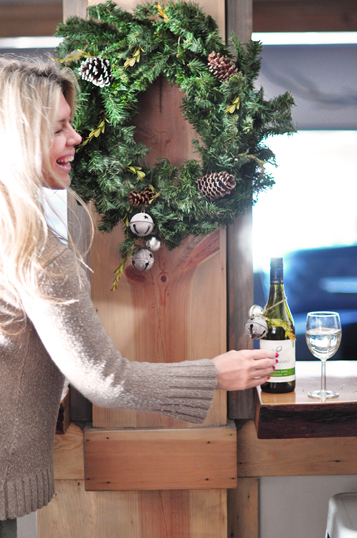 Peter Yealands Wine - Sauvignon blanc - rustic holiday decor DIY wreath
