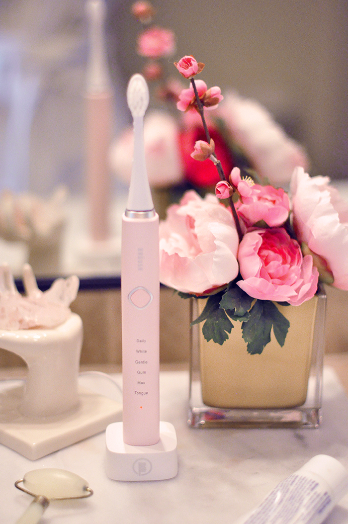 High-end Electric Toothbrush in Pink - Bruush Gives Me A Reason To Smile