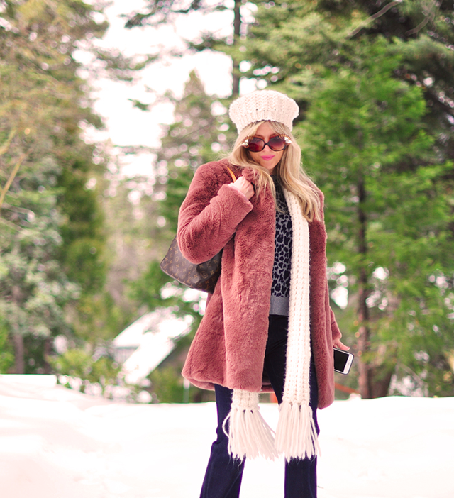 70s style in the snow