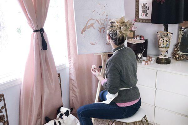 paintillio custom paint by numbers - love maegan tintari - french bulldogs