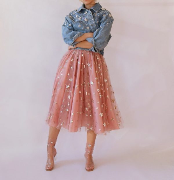 sheer and sparkly skirt with stars 2
