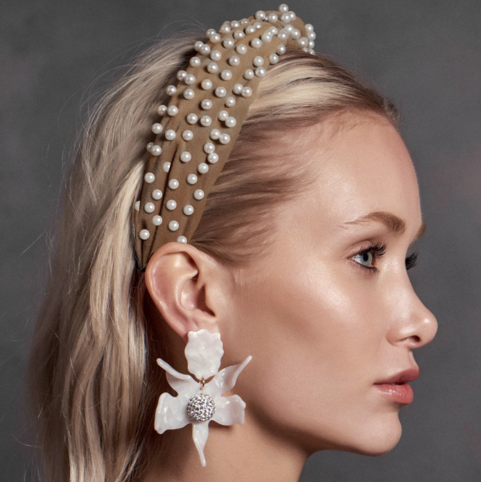 hair accessory trends - knotted jeweled velvet bulky headbands - hair accessories