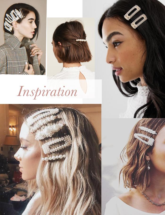 DIY Big Pearl Crystal Hair Clips Barrettes