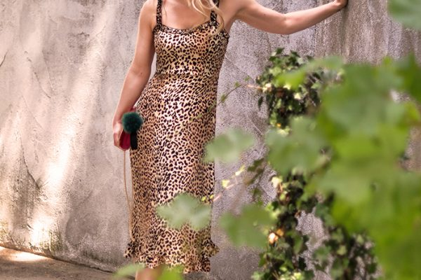 leopard slip dress for summer-love maegan tintari