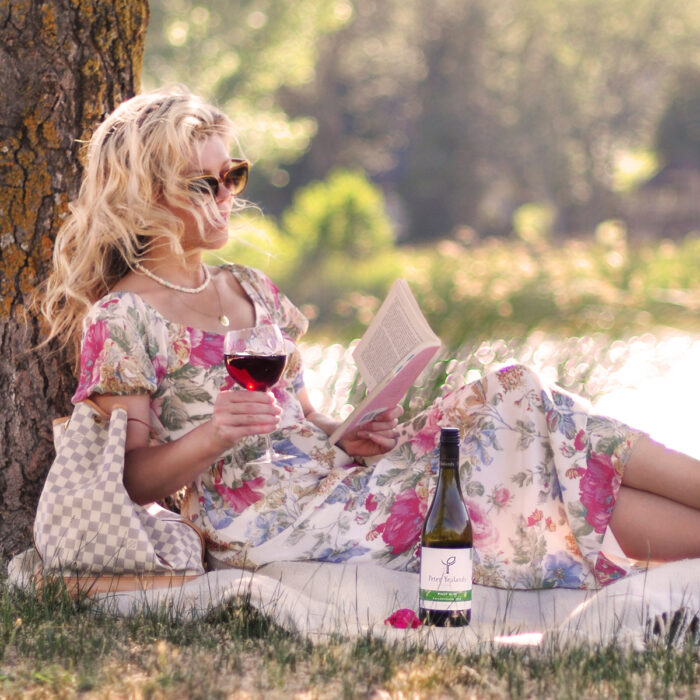 floral empire waist dress with pouf cap sleeves - romantic look - modern bridgerton style