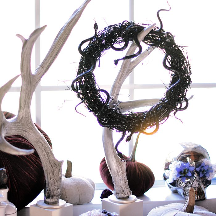 DIY Halloween Snake Wreath and decor 6