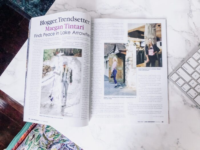 The Lake Arrowhead Magazine - featured article Maegan Tintari