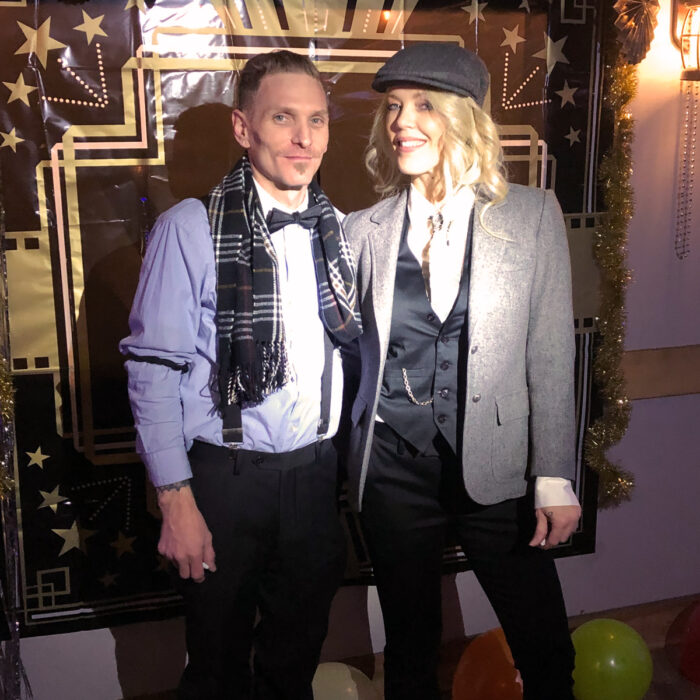 20s style NYE party - Peaky Blinders costumes look - 2020