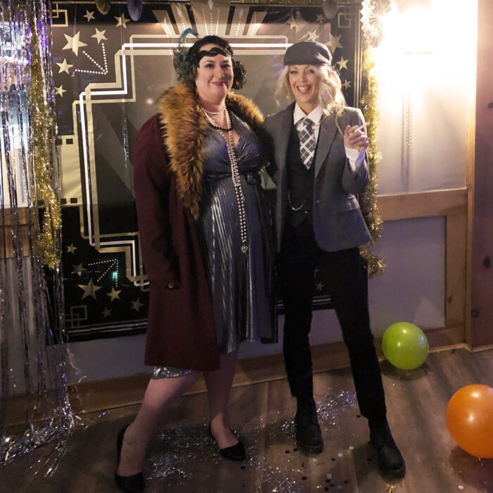 Roaring 20s flapper and Peaky Blinders style for New Year's Eve party