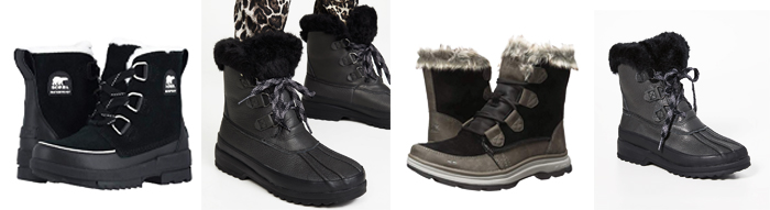 short and stylish winter snow boots