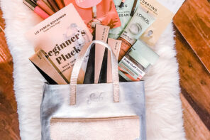 Giveaway! Metallic Tote Bag + Book, L'Oreal Makeup, Skincare & More!