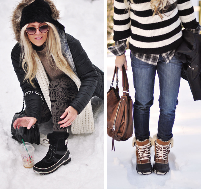 winter style in the snow-everyday living-short snow boots for the win