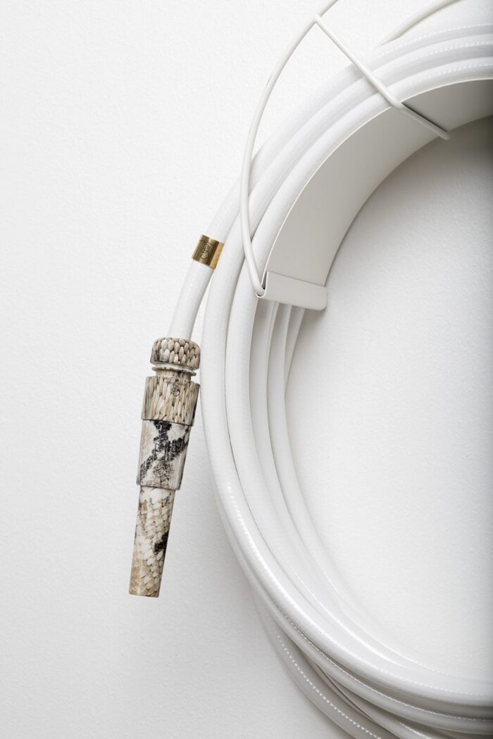 chic garden supplies - pretty garden hose with antlers hose wall mount and cobra nozzle