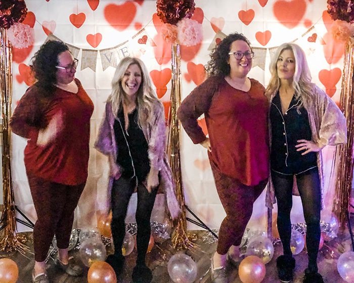 valentine's day pajama party at Dogwood Tavern